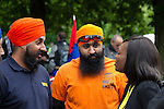 LONDON, ENGLAND, 22 May ,2014.  Khalsa Bikers gather at Greenwich Park to mark the first anniversary of the murder of Fusilier Lee Rigby  near his Woolwich barracks.