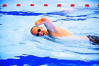 Nederland, Doorn, 9 juli 2014<br /> Presentatie nederlands team voor Invictus Games.<br /> Zwemmer Sven Schutte traint in het zwembad.<br /> Foto (c) Michiel Wijnbergh