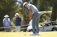 Thorbjorn Olesen (DEN) in action on the 9th during Round 1 of the ISPS Handa World Super 6 Perth at Lake Karrinyup Country Club on the Thursday 8th February 2018.<br /> Picture:  Thos Caffrey / www.golffile.ie<br /> <br /> All photo usage must carry mandatory copyright credit (&copy; Golffile | Thos Caffrey)