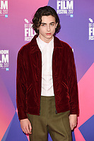 Timothee Chalamet<br /> at the London Film Festival 2017 photocall for the film &quot;Call Me by Your Name&quot; at the Mayfair Hotel, London<br /> <br /> <br /> &copy;Ash Knotek  D3326  09/10/2017