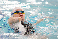 Picture by Richard Blaxall/SWpix.com - 15/04/2018 - Swimming - EFDS National Junior Para Swimming Champs - The Quays, Southampton, England - Courtney Sim of Gloucester in action during the Women's 100m MC Backstroke