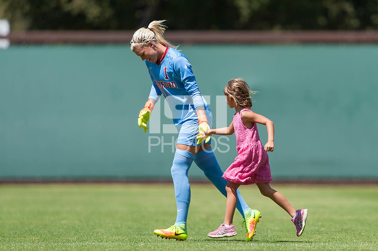 Stanford, CA - September 4, 2016:  Jane Campbell during the Stanford vs Marquette Women's soccer match in Stanford, California.  The Cardinal defeated the Golden Eagles 3-0.