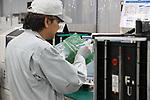 "May 31, 2017, Utsunomiya, Japan - Japan's electronics giant Panasonic employees assemble circuit boards of Panasonic's new Organic Light Emitting Diode (OLED) television sets ""Viera"" at the Panasonic Manufacturing Innovation Center in Utsunomiya , 100km north of Tokyo on Wednesday, May 31, 2017. Panasonic will start to sell 55-inch and 65-inch sized 4K OLED TV series from next month.   (Photo by Yoshio Tsunoda/AFLO) LwX -ytd-"