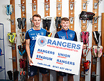 12.11.2019 Rangers RYDC youth photocall: Lewis Mayo and Nathan Patterson