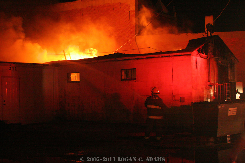 Crossroads Cafe Fire on July 1, 2006. <br />