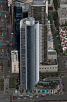 aerial photograph of Pacific Gate by Bosa residential tower, San Diego, California