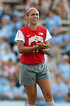 24 August 2014: Ohio State's Bridget Skinner. The University of North Carolina Tar Heels hosted the Ohio State University Buckeyes at Fetzer Field in Chapel Hill, NC in a 2014 NCAA Division I Women's Soccer match. UNC won the game 1-0.