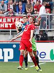 Nederland, Enschede, 29 april 2012.Eredivisie.Seizoen 2011-2012.FC Twente-Ajax.Luuk de Jong (r.) van FC Twente en Jan Vertonghen (l.) van Ajax strijden om de bal