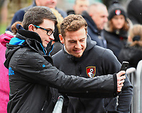 Ryan Fraser of AFC Bournemouth poses for a selfie with a young fan during AFC Bournemouth vs Stoke City, Premier League Football at the Vitality Stadium on 3rd February 2018
