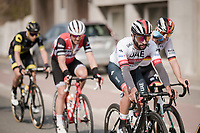 Fernando Gaviria (COL/UAE-Emirates) in the front group<br /> <br /> 81st Gent-Wevelgem 'in Flanders Fields' 2019<br /> One day race (1.UWT) from Deinze to Wevelgem (BEL/251km)<br /> <br /> ©kramon