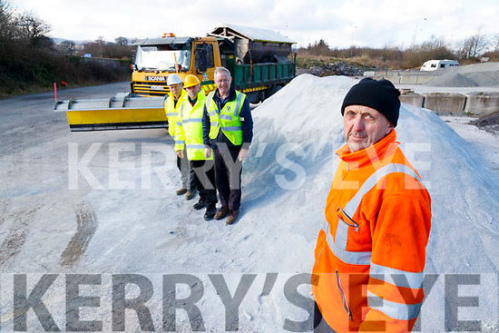 Council Staff getting ready for the big freeze on Wednesday, from left John O'Callaghan, Sean Daughton, Ger Harmon and Charles Slattery.