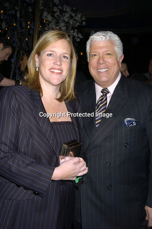 """Marjorie Gibbelmann and Dennis Basso ..at Preston Bailey's Book Party for his new book """"Fantasy Weddings"""" on January 26, 2005 at The Rainbow Room. ..Photo by Robin Platzer, Twin Images"""
