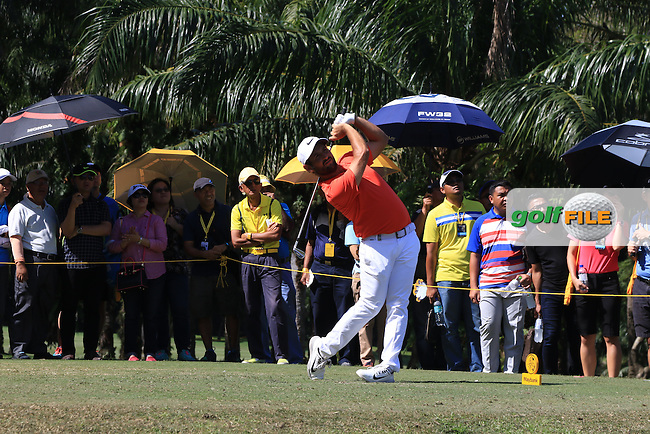 Alexander Levy (FRA) on the 5th tee during Round 4 of the Maybank Championship on Sunday 12th February 2017.<br /> Picture:  Thos Caffrey / Golffile<br /> <br /> All photo usage must carry mandatory copyright credit     (&copy; Golffile | Thos Caffrey)