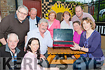 Launching the Treshing for Cancer website in the Manor Inn on friday night were Brendan Ferris, Hazel Joy, Jim Clifford Chairperson, Teresa Walsh, Back : Mike O'Shea, Michael Kennedy, Maria Barnes, Eileen Kennedy, Randall Joy and Kathleen Breen