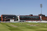General view of play under blue skies during Lancashire CCC vs Essex CCC, Specsavers County Championship Division 1 Cricket at Emirates Old Trafford on 11th June 2018