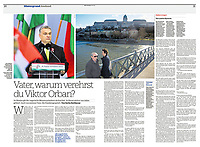 NZZ am Sonntag (main Swiss Sunday paper) on Hungarian family politics, 04.2018<br />