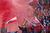 Portland, OR - Saturday, May 21, 2016: Portland Thorns FC fans. The Portland Thorns FC defeated the Washington Spirit 4-1 during a regular season National Women's Soccer League (NWSL) match at Providence Park.