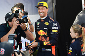 22nd March 2018, Melbourne Grand Prix Circuit, Melbourne, Australia; Melbourne Formula One Grand Prix, Arrivals and Press Conference; Daniel Ricciardo of Australia smiles as he leaves the portrait photo session