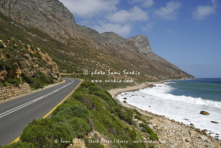 Costal road R44 on Betty's Bay, South Western Cape, South Africa,