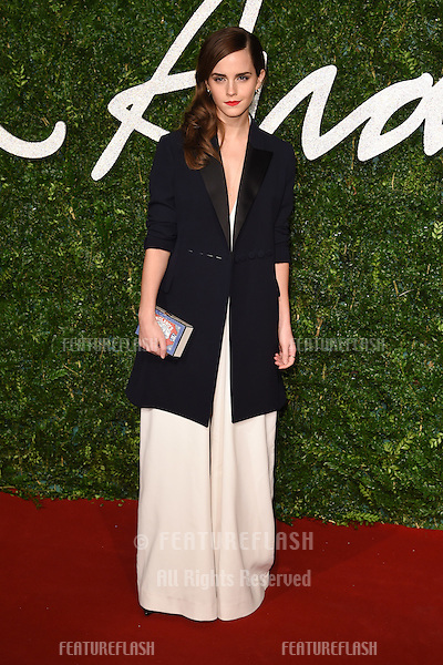 Emma Watson arrives for British Fashion Awards 2014 at the London Coliseum, Covent Garden, London. 01/12/2014 Picture by: Steve Vas / Featureflash