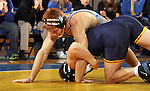 BROOKINGS, SD - NOVEMBER 9:  Joe Brewster from South Dakota State tries to control Jason Fugiel from Drexel in their 165 pound match Saturday at Frost Arena. (Photo by Dave Eggen/Inertia)