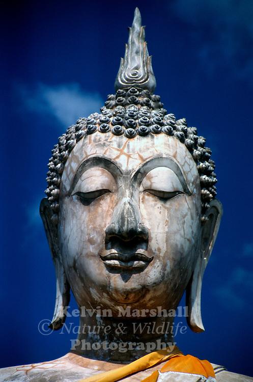 Wat Mae Chon - Beautifully carved statue of Lord Buddha. Sukhothai Historical Park - Thailand