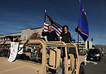 "Gov. Brian Sandoval and his wife Kathleen wave to the crowd at the 74th annual Nevada Day parade in Carson City, Nev. on Saturday, Oct. 27, 2012. This years theme was ""Honoring Our Military & Families - Past, Present, Future."".Photo by Cathleen Allison"