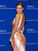 Irina Shayk arrives for the 2015 White House Correspondents Association Annual Dinner at the Washington Hilton Hotel on Saturday, April 25, 2015.<br /> Credit: Ron Sachs / CNP