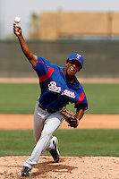 Rainer Bermudez  - Texas Rangers - 2009 spring training.Photo by:  Bill Mitchell/Four Seam Images
