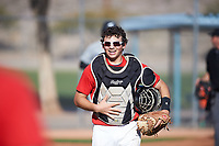 Guillermo Matos (47), from San Francisco, California, while playing for the Red Sox during the Under Armour Baseball Factory Recruiting Classic at Red Mountain Baseball Complex on December 28, 2017 in Mesa, Arizona. (Zachary Lucy/Four Seam Images)
