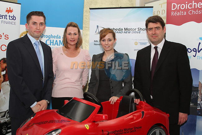 Robert Murray, Permanent TSB Finance, Wendy Sutton, McCabes, Laura O'Donoghue, d Hotel and Gerry Ryan, Boyne Valley Cars,at the Drogheda Motor Show Launch Night in the d Hotel...Picture Jenny Matthews/Newsfile.ie