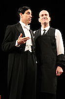 LONDON, ENGLAND - NOVEMBER 05: Stephen Mangan (as Bertie Wooster) & Matthew Macfadyen (as Jeeves) star in 'Perfect Nonsense' at the Duke Of York's Theatre on November 5th 2013 in London, England.<br /> CAP/ROS<br /> ©Steve Ross/Capital Pictures