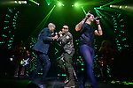 MIAMI, FL - FEBRUARY 14: ARandy Malcom Martinez and Alexander Delgado of Gente de Zona and Leoni Torres performs during Leoni Torres Y Sus Amigos With Special Guest Gente De Zona concert at James L. Knight Center on February 14, 2017 in Miami, Florida.  ( Photo by Johnny Louis / jlnphotography.com )