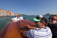 Venice, Italy - 15th Architecture Biennale 2016, &quot;Reporting from the Front&quot;.<br /> Ber&uuml;hrungspunkte.de - meeting point for architects.<br /> Free shuttle taxi boat to Arsenale.