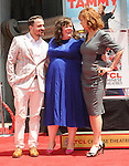 Ben Falcone and Susan Sarandon at ceremony for Melissa McCarthy Honored with Hand and Footprint Ceremony at TCL Chinese Theatre Los Angeles Ca. July 2, 2014.