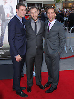 """WESTWOOD, LOS ANGELES, CA, USA - APRIL 28: Nick Stoller, Evan Goldberg, James Weaver at the Los Angeles Premiere Of Universal Pictures' """"Neighbors"""" held at the Regency Village Theatre on April 28, 2014 in Westwood, Los Angeles, California, United States. (Photo by Xavier Collin/Celebrity Monitor)"""