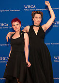 Laurie Penny and Amanda Palmer arrive for the 2019 White House Correspondents Association Annual Dinner at the Washington Hilton Hotel on Saturday, April 27, 2019.<br /> Credit: Ron Sachs / CNP<br /> <br /> (RESTRICTION: NO New York or New Jersey Newspapers or newspapers within a 75 mile radius of New York City)