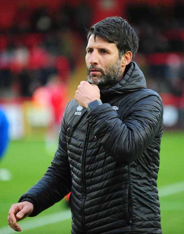 Lincoln City manager Danny Cowley during the pre-match warm-up<br /> <br /> Photographer Andrew Vaughan/CameraSport<br /> <br /> The EFL Sky Bet League Two - Stevenage v Lincoln City - Saturday 8th December 2018 - The Lamex Stadium - Stevenage<br /> <br /> World Copyright © 2018 CameraSport. All rights reserved. 43 Linden Ave. Countesthorpe. Leicester. England. LE8 5PG - Tel: +44 (0) 116 277 4147 - admin@camerasport.com - www.camerasport.com