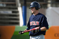 14 September 2009: Catcher Christopher Berset looks dejected after being called out on strikes during the 2009 Baseball World Cup Group F second round match game won 15-5 by South Korea over Great Britain, in the Dutch city of Amsterdan, Netherlands.