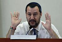 Matteo Salvini di ritorno dalla Libia