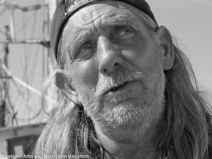 Pete, Key West, FL, Shrimp Boat Captain visiting the harbor on Stock Island.