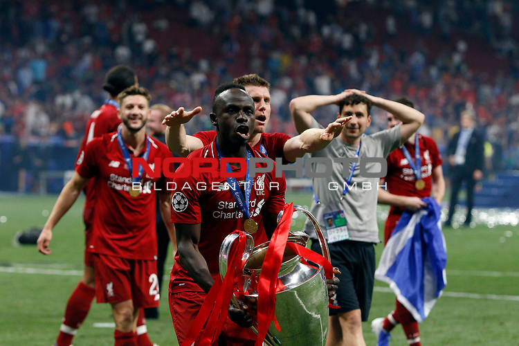 Liverpool's FC Sadio Mane during UEFA Champions League match, Final Roundl between Tottenham Hotspur FC and Liverpool FC at Wanda Metropolitano Stadium in Madrid, Spain. June 01, 2019.(Foto: nordphoto / Alterphoto /Manu R.B.)