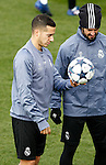 Real Madrid's Lucas Vazquez (l) and Isco Alarcon during training session. February 14,2017.(ALTERPHOTOS/Acero)