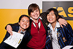 Girls Badminton finalists Victoria Cheng, Mary OÇonnor & Michelle Chan. ASB College Sport Auckland Secondary School Young Sports Person of the Year Awards held at Eden Park on Thursday 12th of September 2009.
