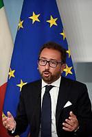 Roma, 6 Settembre 2018<br /> Alfonso Bonafede.<br /> Palazzo Chigi<br /> Conferenza stampa su Decreto Anti Corruzione