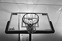 B&W backboard shot from below.