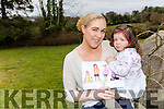 Little Ella O'Donoghue with her mum Gillian shows off her picture which is featured in the 2017 calandar