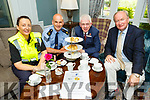 "Gda Irene O'Riordan, Sgt Tim O'Keeffe, Mark Sullivan (Rose Hotel) and Cllr Jim Finucane (Mayor of Tralee) launching the ""Coffee with your Cops"" initiative in the Rose Hotel on Tuesday. The event Safety with a difference with music, song and dance will be held in the Rose Hotel on Tuesday July 16th."