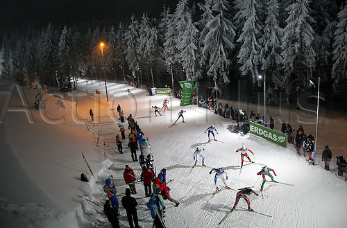 05.01.2011 Mens Biathlon World Cup from Oberhof Germany. Picture shows the mountain section of the race.