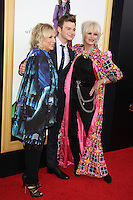 NEW YORK, NY-July 18: Jennifer Saunders, Chris Colfer,  Joanna Lumley at Fox Searchlight Pictures presents premiere of Absolutely Fabulous: The Movie  to talk about  Star Trek Beyond in New York. NY July 18, 2016. Credit:RW/MediaPunch